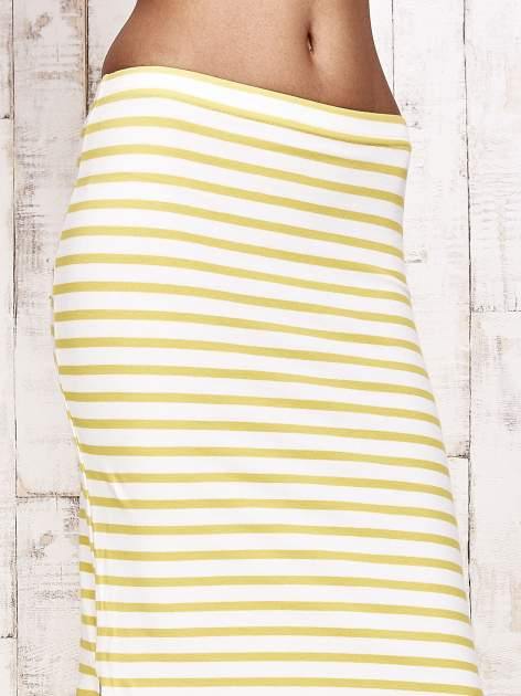 Żółta spódnica maxi w paski                                  zdj.                                  5