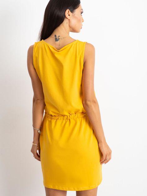Żółta sukienka Embellishment                              zdj.                              2