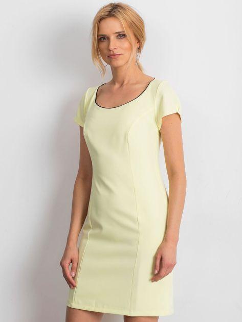 Żółta sukienka Majesty                              zdj.                              1