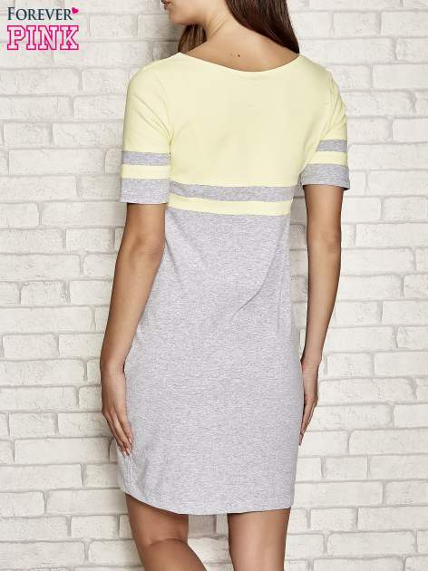 Żółta sukienka dresowa baseball dress                                  zdj.                                  3
