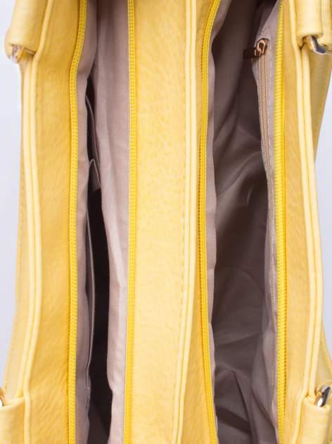 Żółta torba miejska na ramię                                  zdj.                                  5