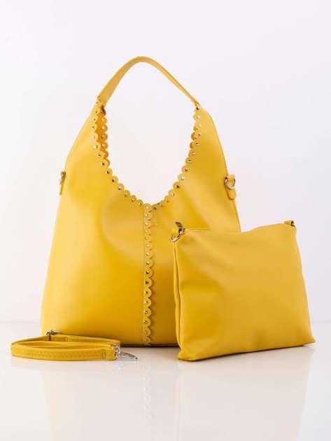 Żółta torba miejska z ekoskóry