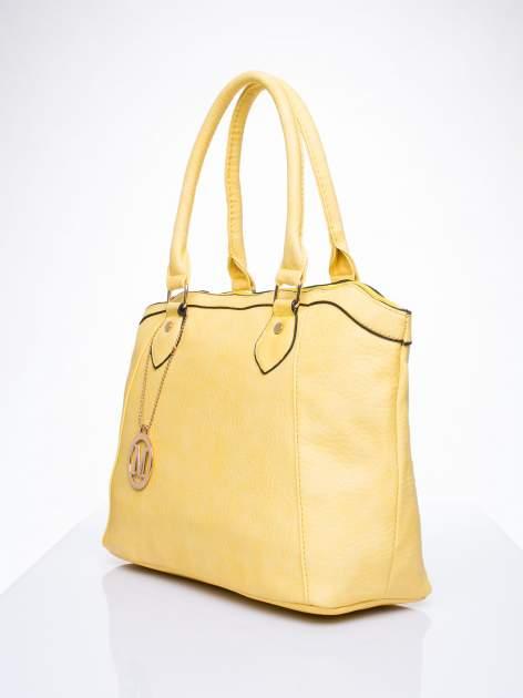 Żółta torba miejska ze złotą zaiweszką                                  zdj.                                  2
