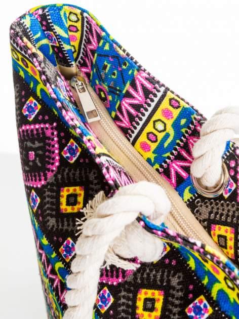 Żółta torba plażowa w azteckie wzory                                  zdj.                                  6