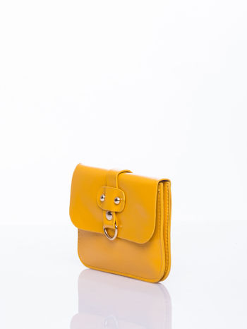 Żółta torebka listonoszka z klapką                                  zdj.                                  3