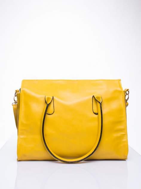 Żółta torebka teczka z klapką                                  zdj.                                  4