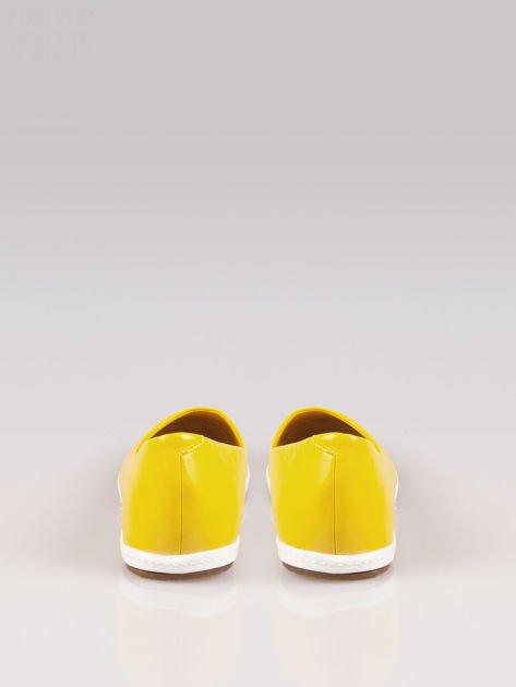Żółte baleriny Sunny ze smukłym noskiem na kontrastowej podeszwie                                  zdj.                                  3