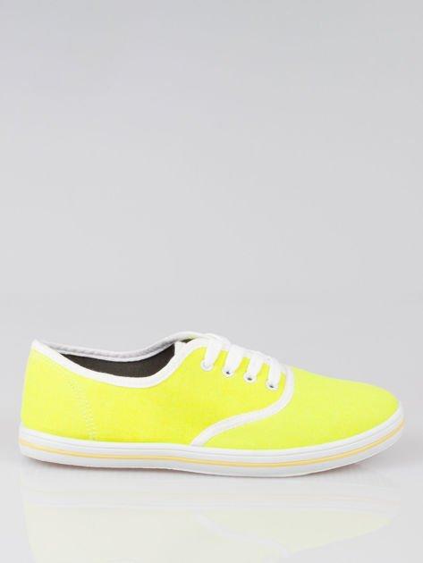 Żółte damskie tenisówki przed kostkę