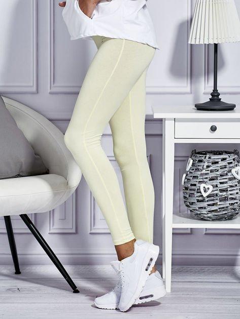 Żółte legginsy basic                              zdj.                              5