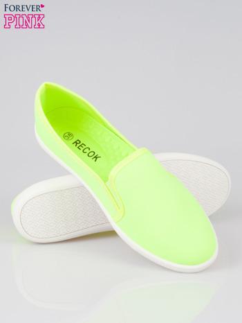Żółte lekkie buty sliponki                                  zdj.                                  4