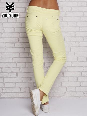 Żółte proste spodnie z napami                                  zdj.                                  3