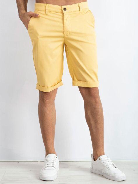 Żółte spodenki męskie Driven