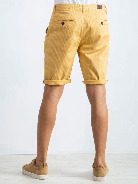 Żółte spodenki męskie Hamilton                              zdj.                              2