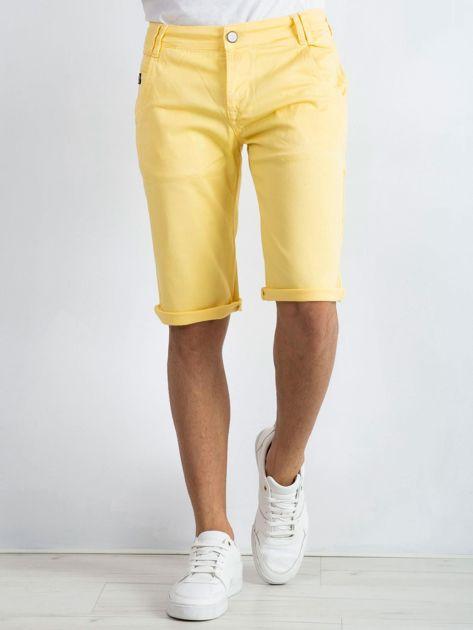 Żółte spodenki męskie Seeing