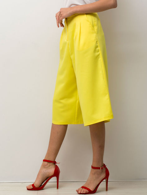 Żółte spódnicospodnie typu culottes                                  zdj.                                  1
