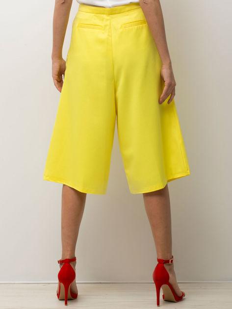 Żółte spodnie typu culottes                              zdj.                              2