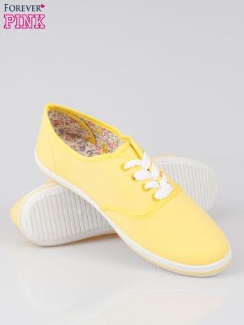Żółte trampki z tkaniny Phillie                                   zdj.                                  4