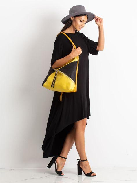 Żółto-czarna miejska torba                              zdj.                              4