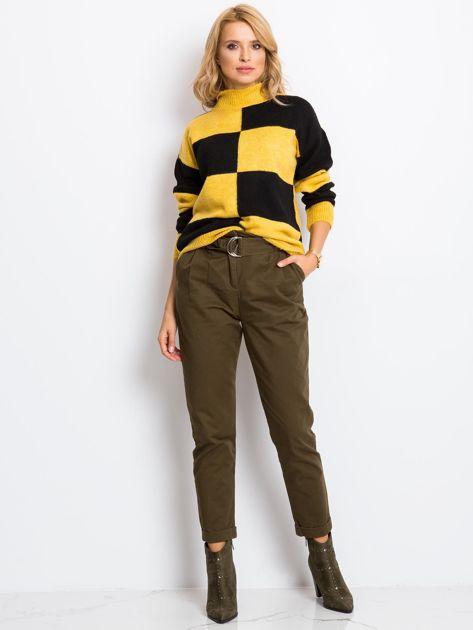 Żółto-czarny sweter Francesca                              zdj.                              4
