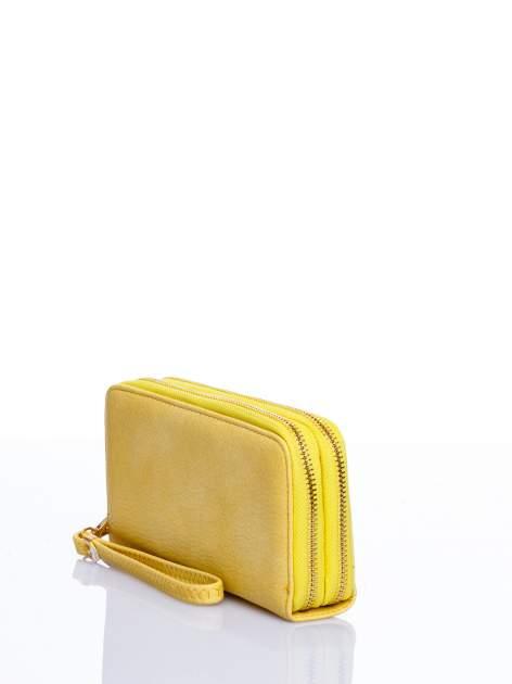 Żółty matowy portfel z rączką                                  zdj.                                  2
