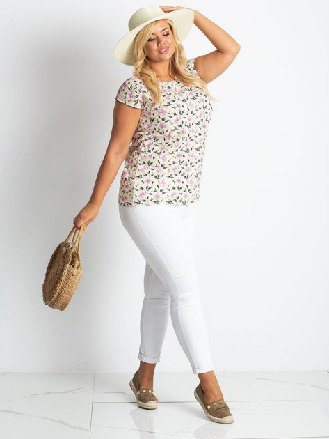 Żółty t-shirt Candy PLUS SIZE                              zdj.                              4
