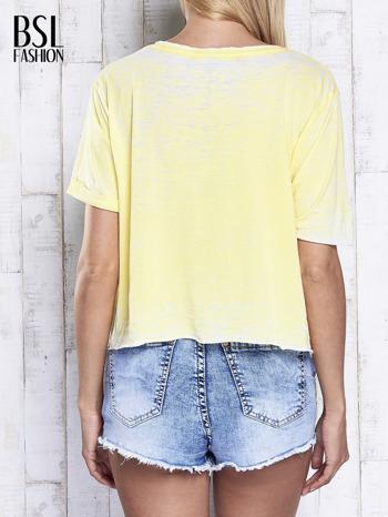 Żółty t-shirt cropped DIMEPIECE                                  zdj.                                  2