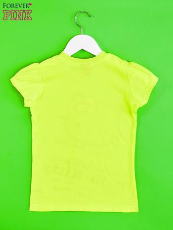 Żółty t-shirt dla dziewczynki HELLO KITTY z napisami                                  zdj.                                  2