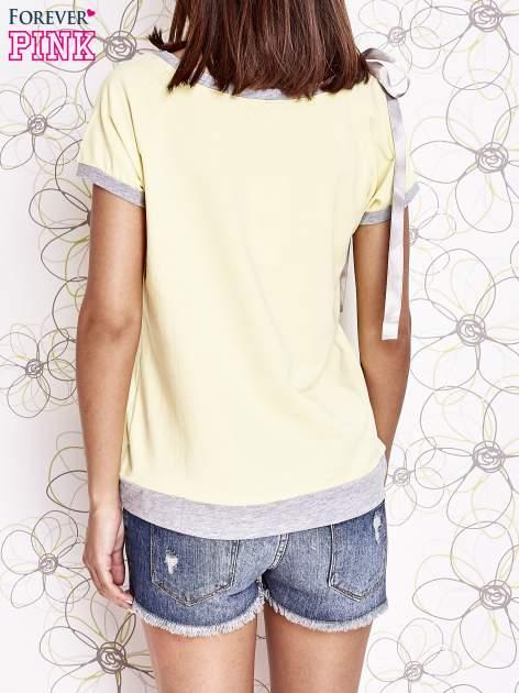 Żółty t-shirt z kokardą                                  zdj.                                  4