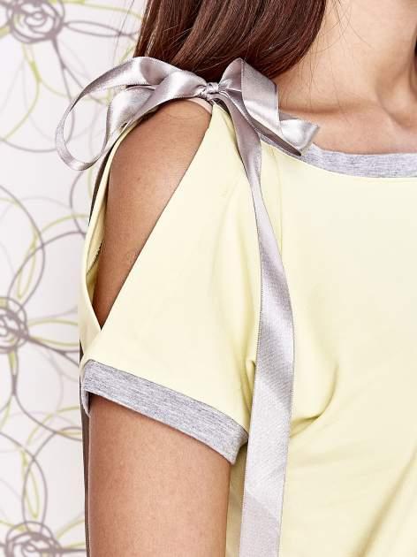 Żółty t-shirt z kokardą                                  zdj.                                  5