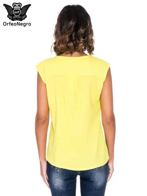 Żółty top z haftem w etnicznym stylu                                  zdj.                                  4