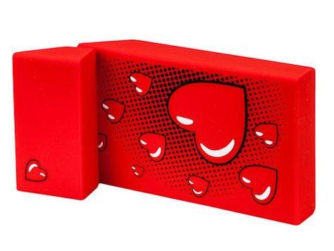 toys4smokers SLIM/Etui silikonowe na papierosy -Red heart                              zdj.                              2