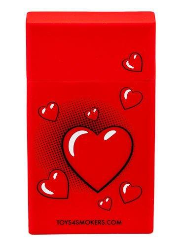 toys4smokers SLIM/Etui silikonowe na papierosy -Red heart                              zdj.                              3