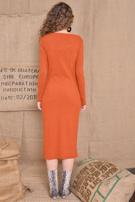BSL Ceglasta sukienka z guzikami                                  zdj.                                  3