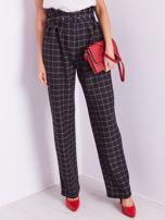 BY O LA LA Czarne eleganckie spodnie w kratę                                  zdj.                                  3
