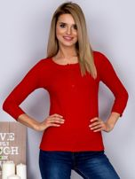 Bawełniana bluzka z guzikami czerwona                                  zdj.                                  1