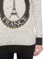 Beżowa bluza z nadrukiem wieży Eiffla                                  zdj.                                  6