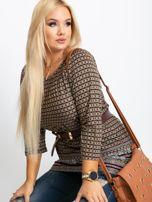 Beżowa bluzka plus size Casey                                  zdj.                                  1