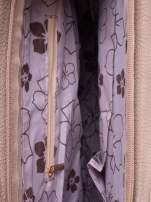 Beżowa miejska torba z ozdobnymi klamrami                                  zdj.                                  4