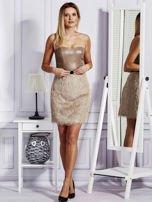 Beżowa sukienka z frędzelkami                                   zdj.                                  4