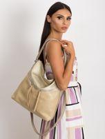 Beżowa torba damska z ekoskóry                                  zdj.                                  4