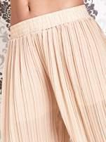 Beżowe plisowane spodnie palazzo                                   zdj.                                  5