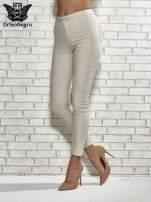 Beżowe spodnie rurki skinny                                  zdj.                                  1