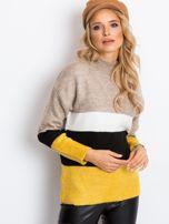 Beżowo-biały sweter Denise                                  zdj.                                  3