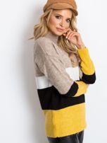 Beżowo-biały sweter Denise                                  zdj.                                  5