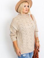 Beżowy sweter plus size Bridge                                  zdj.                                  3