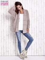 Beżowy sweter ze złotymi suwakami                                                                          zdj.                                                                         2