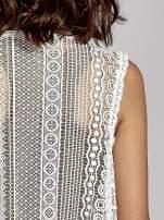 Biała ażurowa kamizelka z frędzlami w stylu boho                                  zdj.                                  6