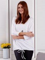 Biała bluza z motywem motyli                                  zdj.                                  1