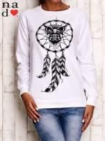 Biała bluza z motywem sowy i łapacza snów                                  zdj.                                  2