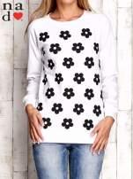 Biała bluza z nadrukiem kwiatów                                  zdj.                                  1
